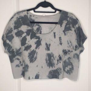 Alo cropper short sleeve sweatshirt